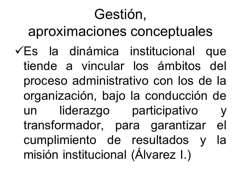 Gestión, aproximaciones conceptuales