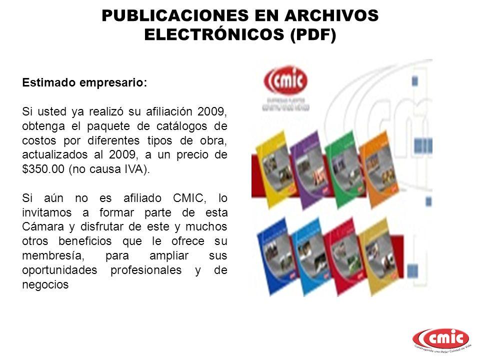 PUBLICACIONES EN ARCHIVOS ELECTRÓNICOS (PDF)