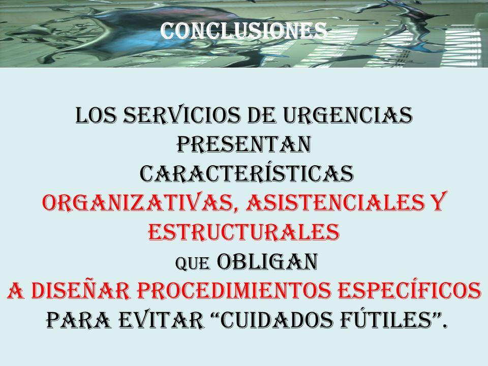 LOS SERVICIOS DE URGENCIAS PRESENTAN CARACTERÍSTICAS