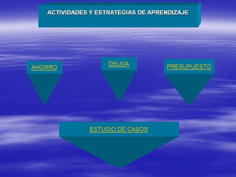 ACTIVIDADES Y ESTRATEGIAS DE APRENDIZAJE