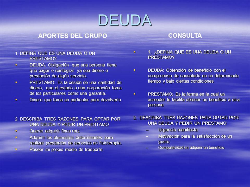 DEUDA APORTES DEL GRUPO CONSULTA
