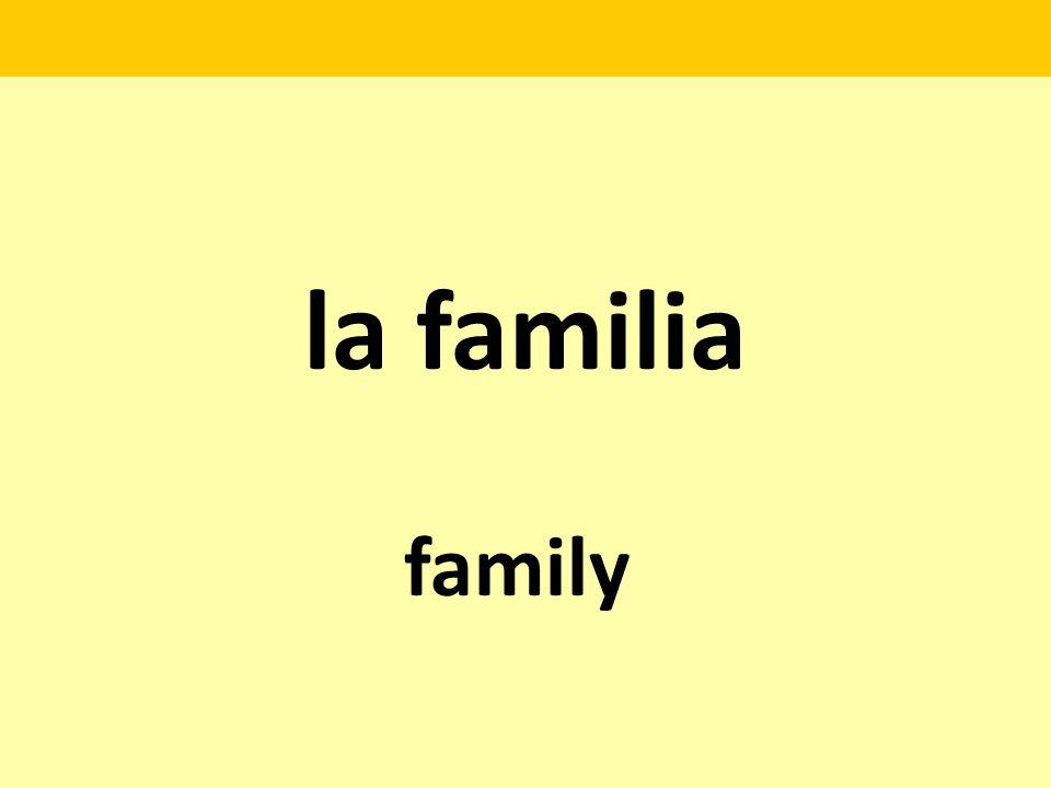la familia family