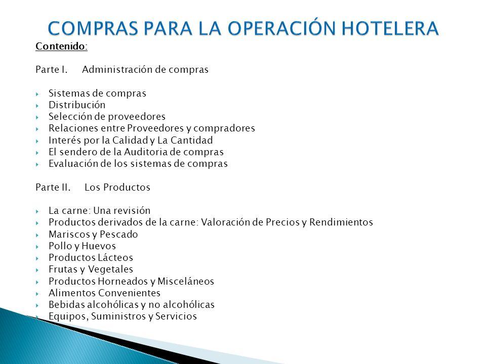 COMPRAS PARA LA OPERACIÓN HOTELERA
