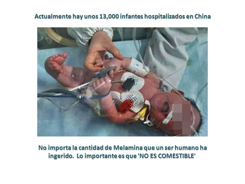Actualmente hay unos 13,000 infantes hospitalizados en China