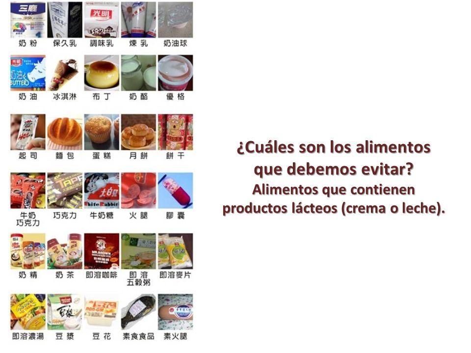 ¿Cuáles son los alimentos que debemos evitar