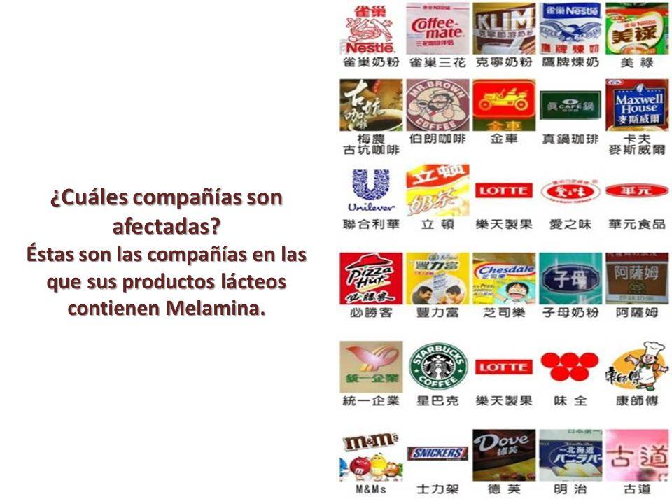 ¿Cuáles compañías son afectadas