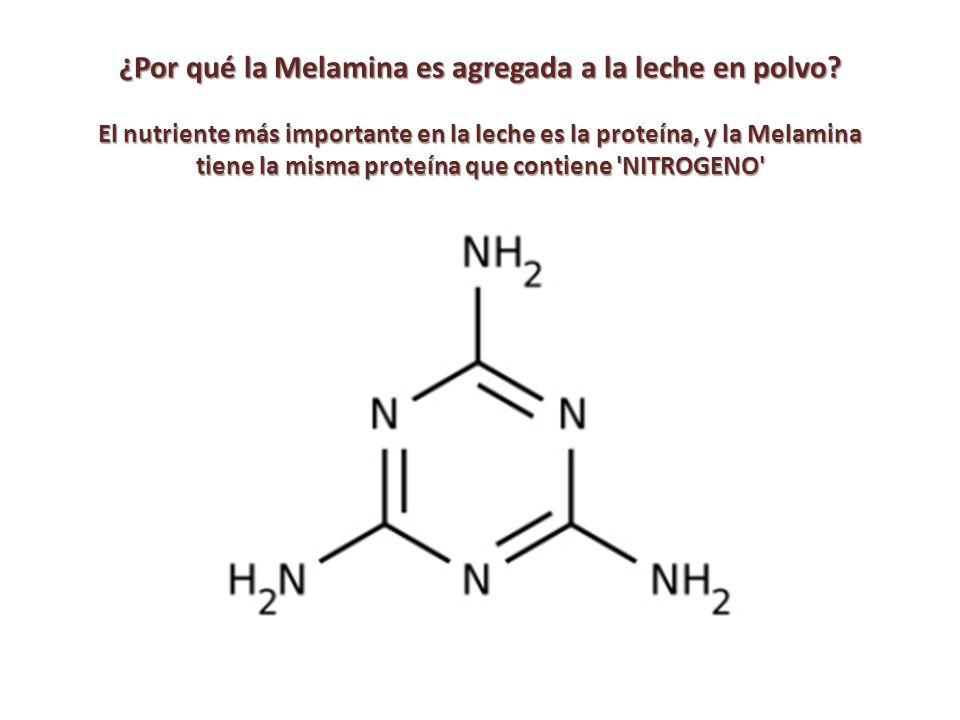¿Por qué la Melamina es agregada a la leche en polvo