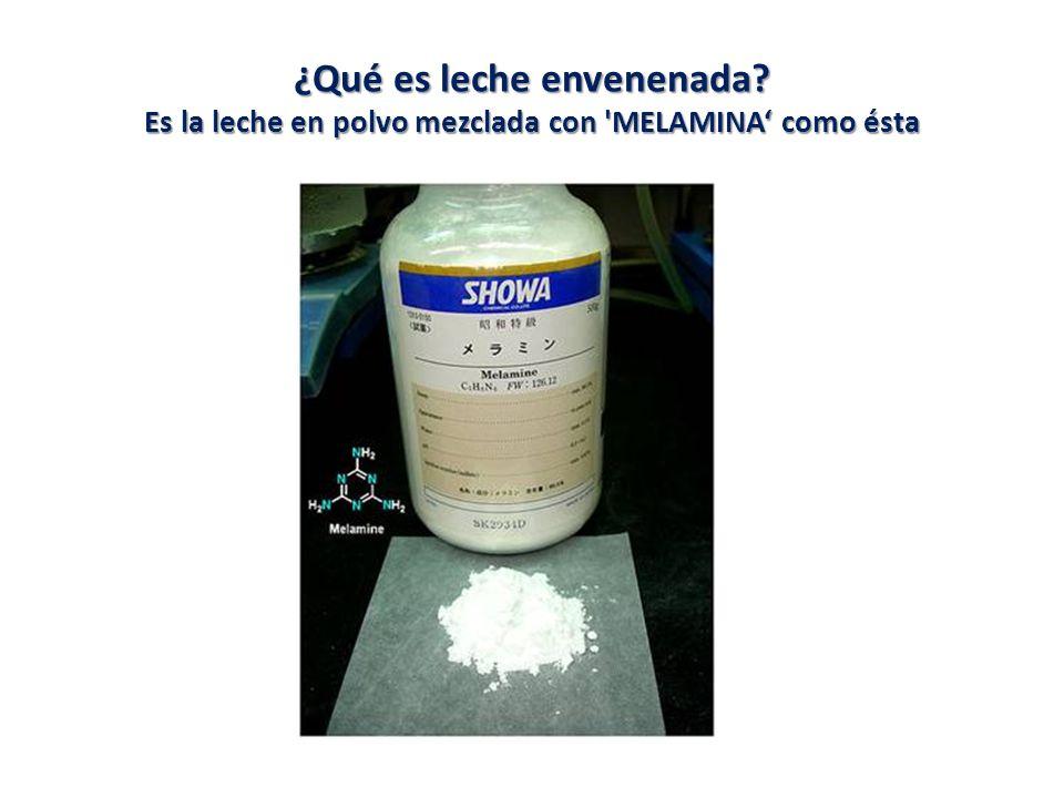 ¿Qué es leche envenenada