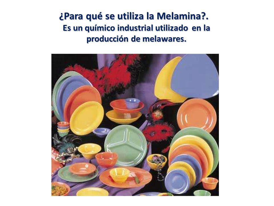 ¿Para qué se utiliza la Melamina .