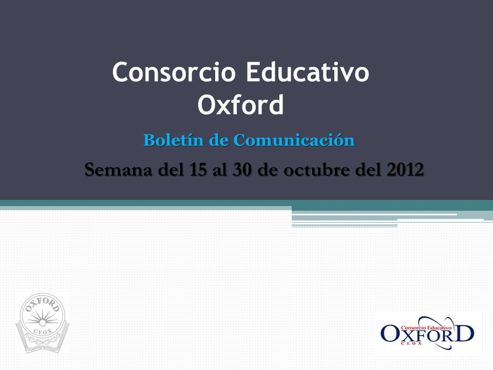 Consorcio Educativo Oxford