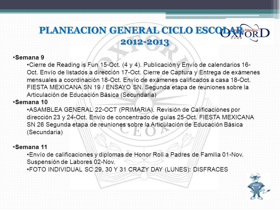 PLANEACION GENERAL CICLO ESCOLAR 2012-2013