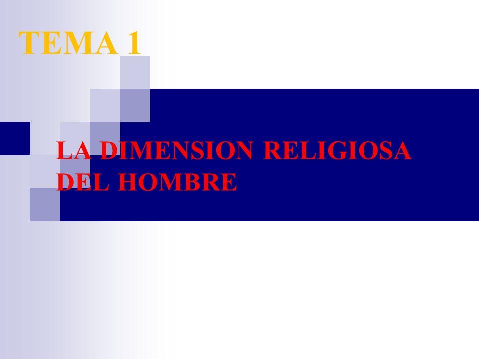 LA DIMENSION RELIGIOSA DEL HOMBRE