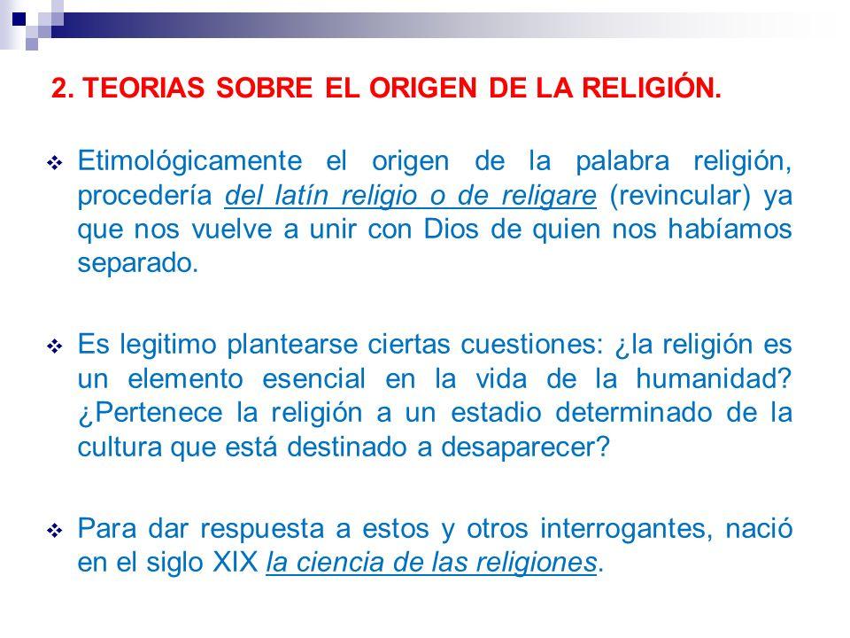 2. TEORIAS SOBRE EL ORIGEN DE LA RELIGIÓN.