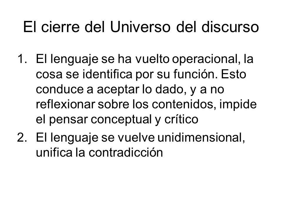 El cierre del Universo del discurso
