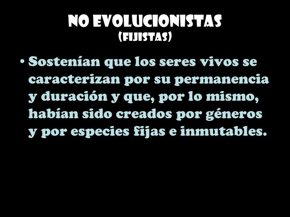 No evolucionistas (Fijistas)