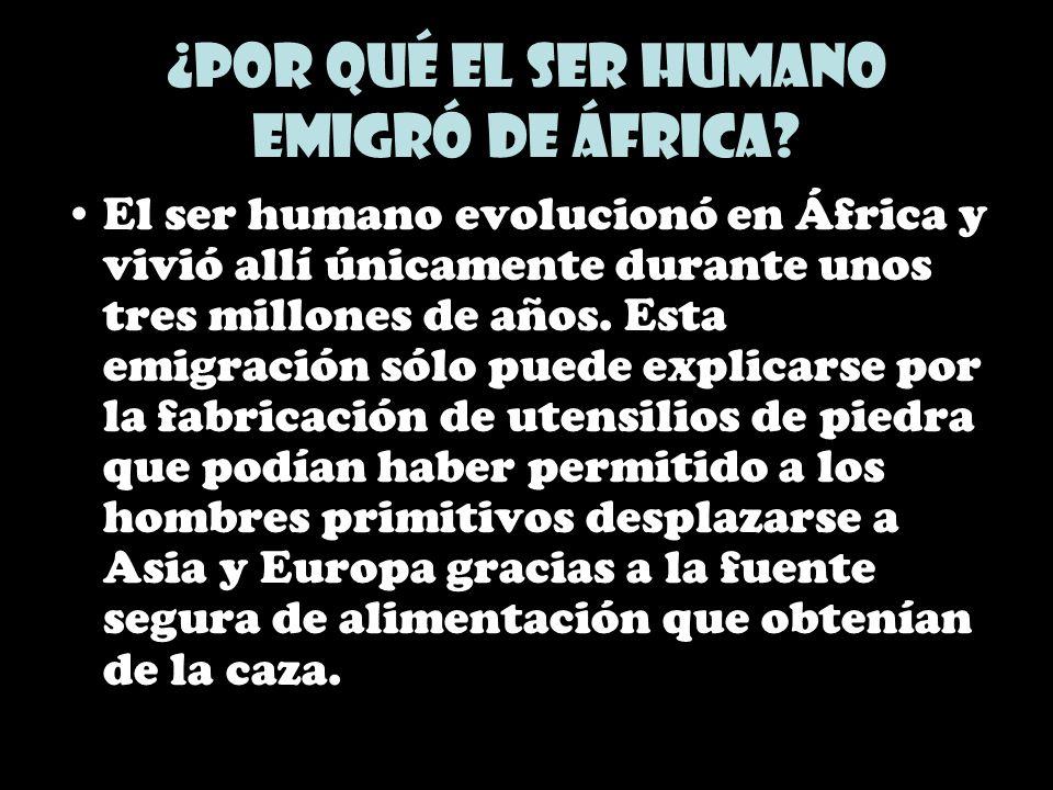 ¿Por qué el ser humano emigró de África