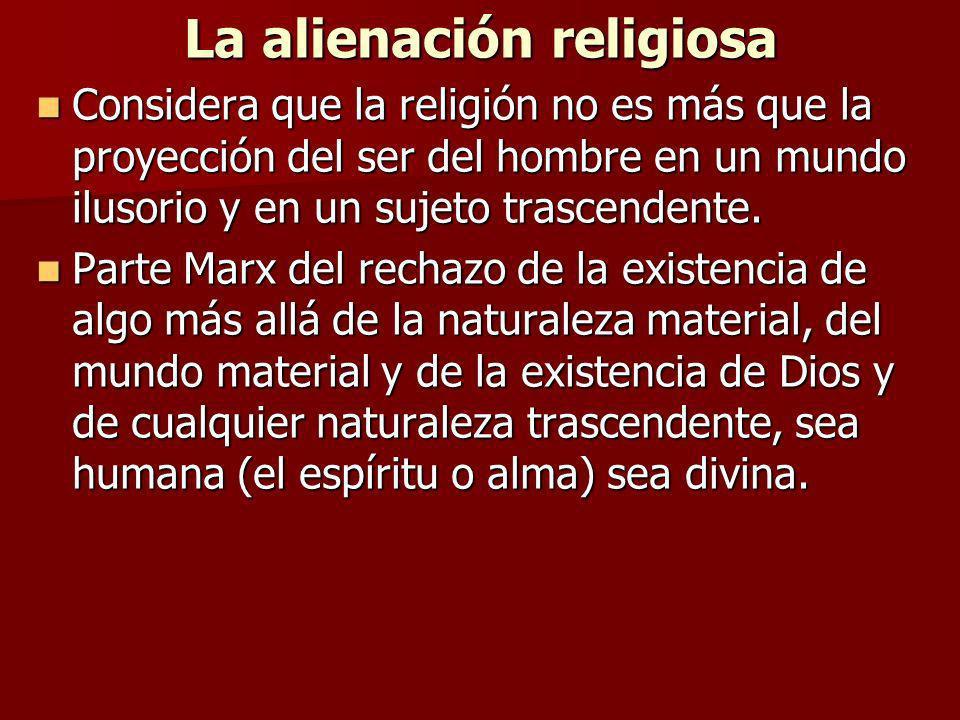 La alienación religiosa