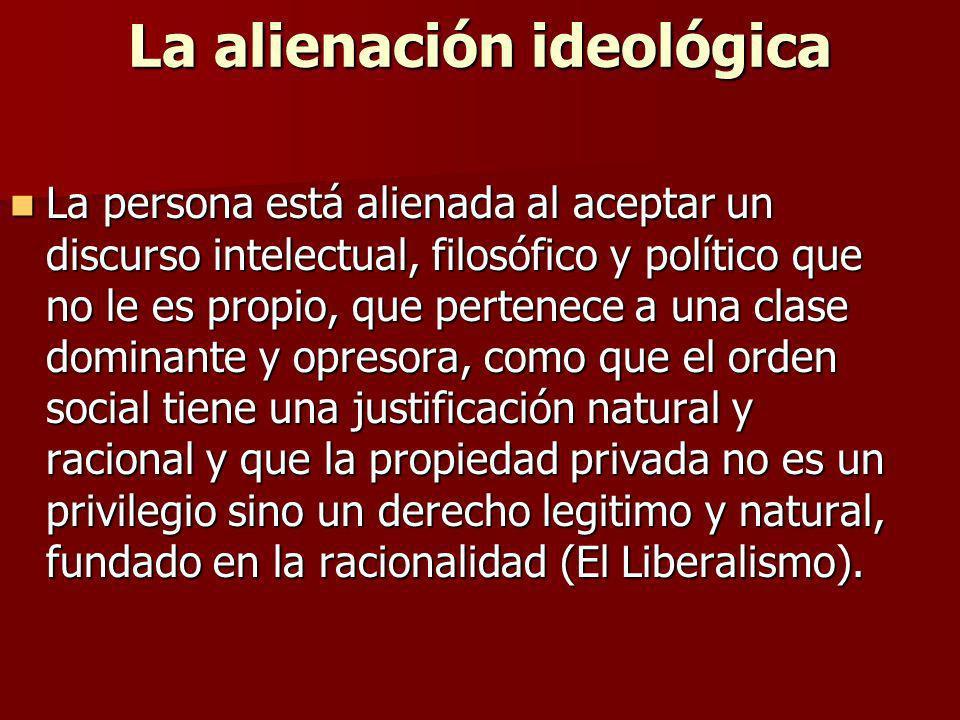 La alienación ideológica