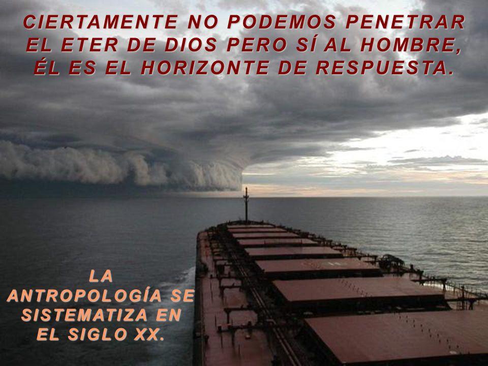CIERTAMENTE NO PODEMOS PENETRAR EL ETER DE DIOS PERO SÍ AL HOMBRE,