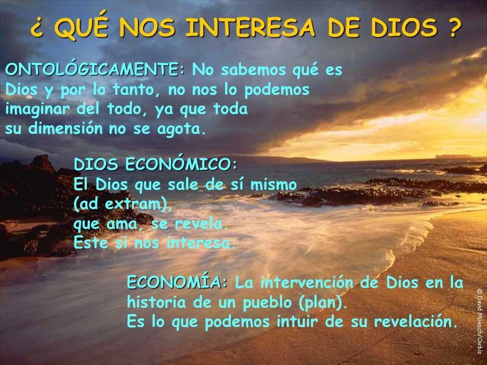 ¿ QUÉ NOS INTERESA DE DIOS