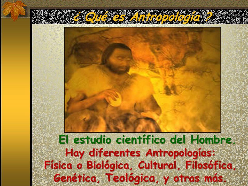 Hay diferentes Antropologías:
