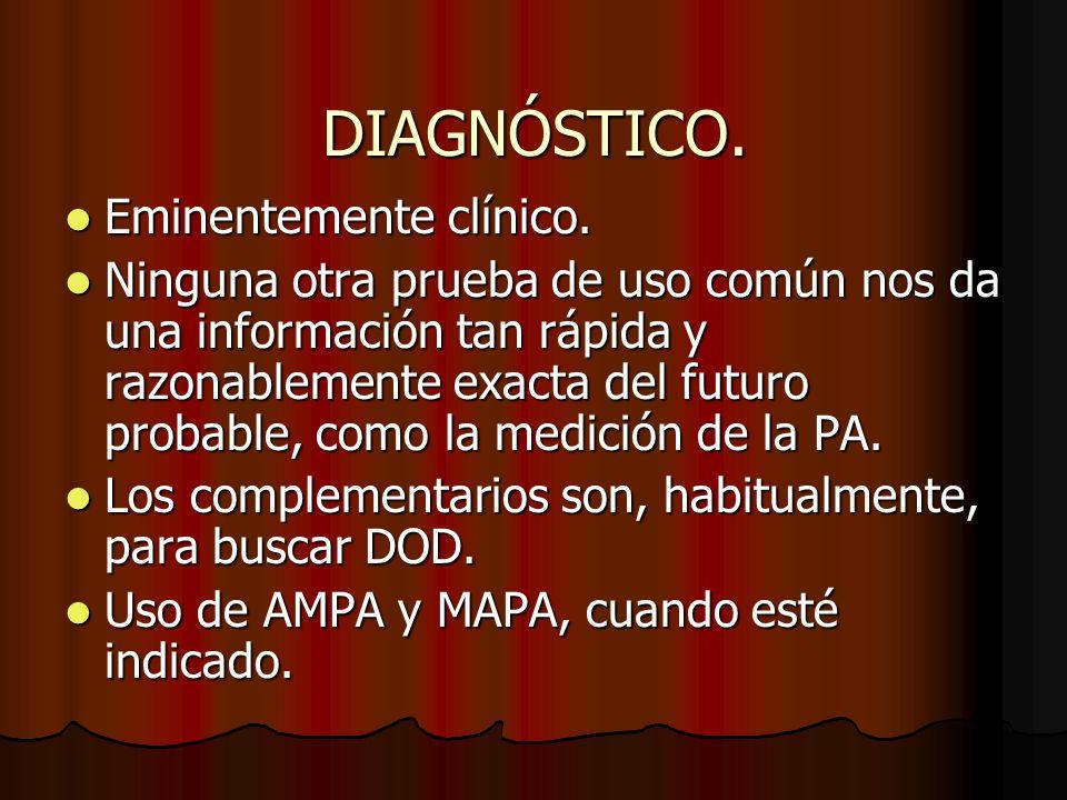 DIAGNÓSTICO. Eminentemente clínico.