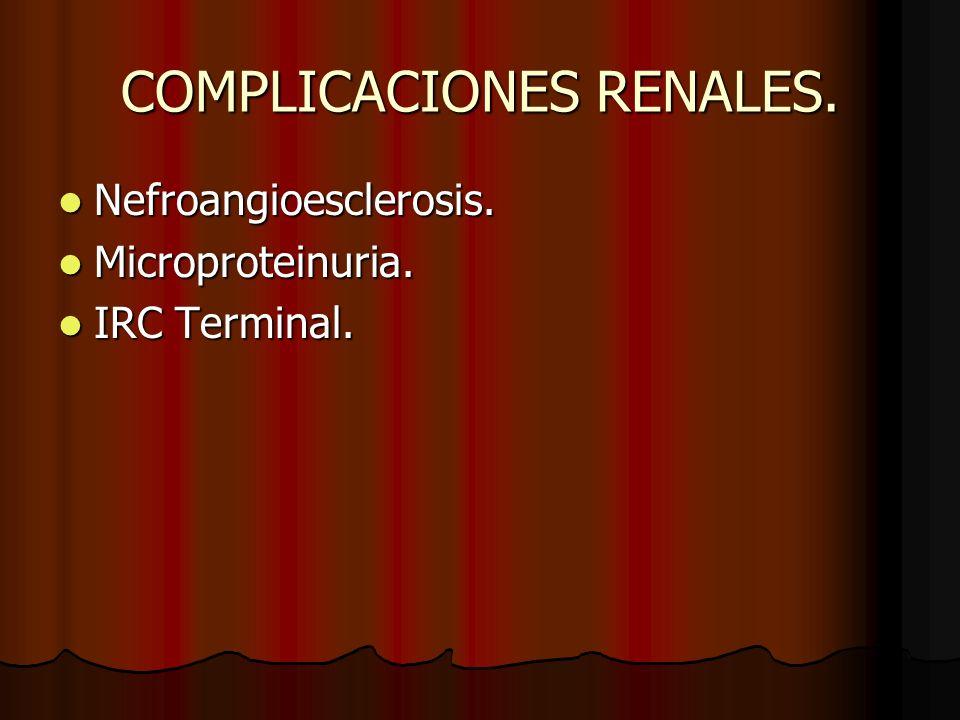 COMPLICACIONES RENALES.