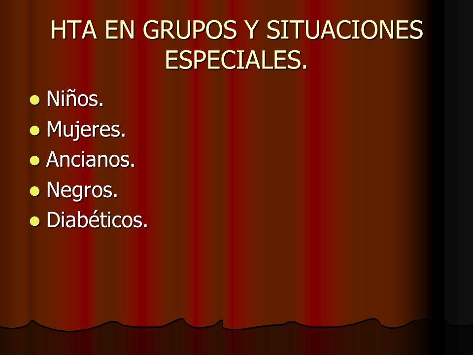 HTA EN GRUPOS Y SITUACIONES ESPECIALES.