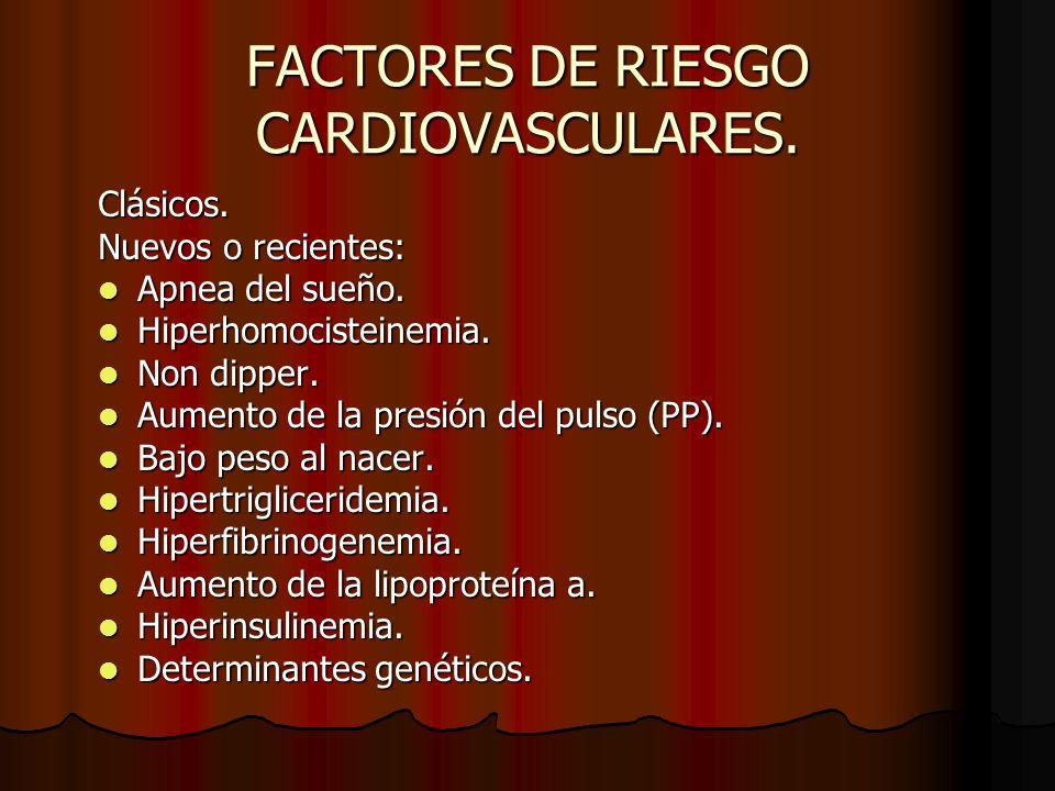 FACTORES DE RIESGO CARDIOVASCULARES.