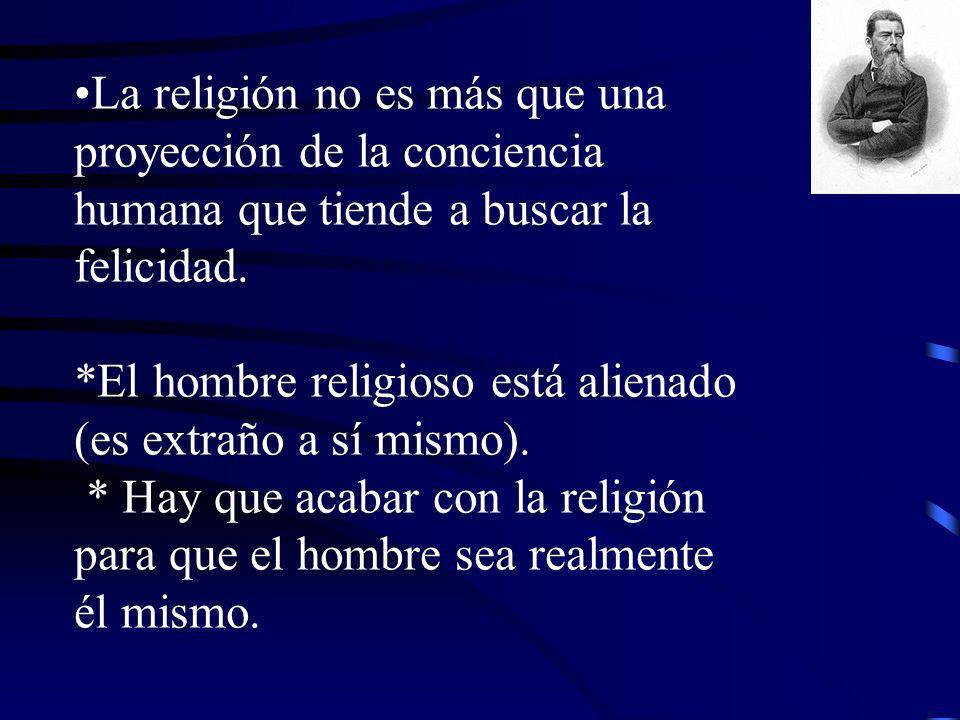 La religión no es más que una proyección de la conciencia humana que tiende a buscar la felicidad.