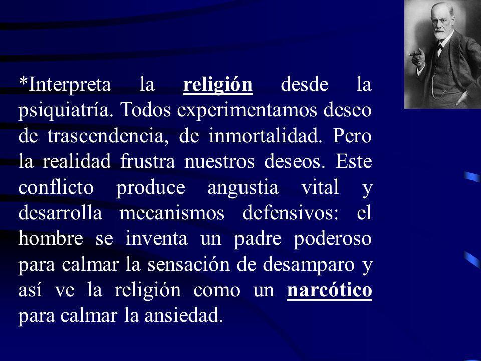 Interpreta la religión desde la psiquiatría