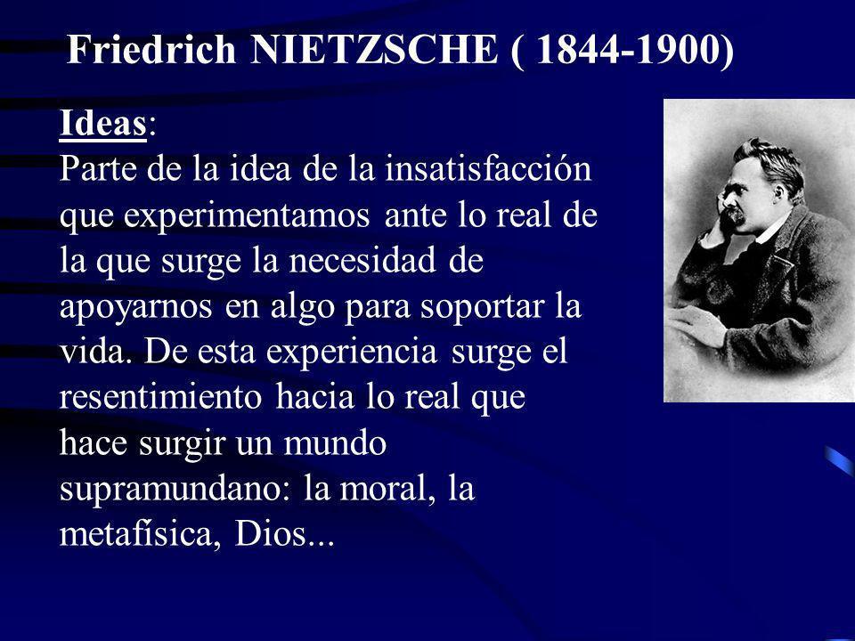 Friedrich NIETZSCHE ( 1844-1900)