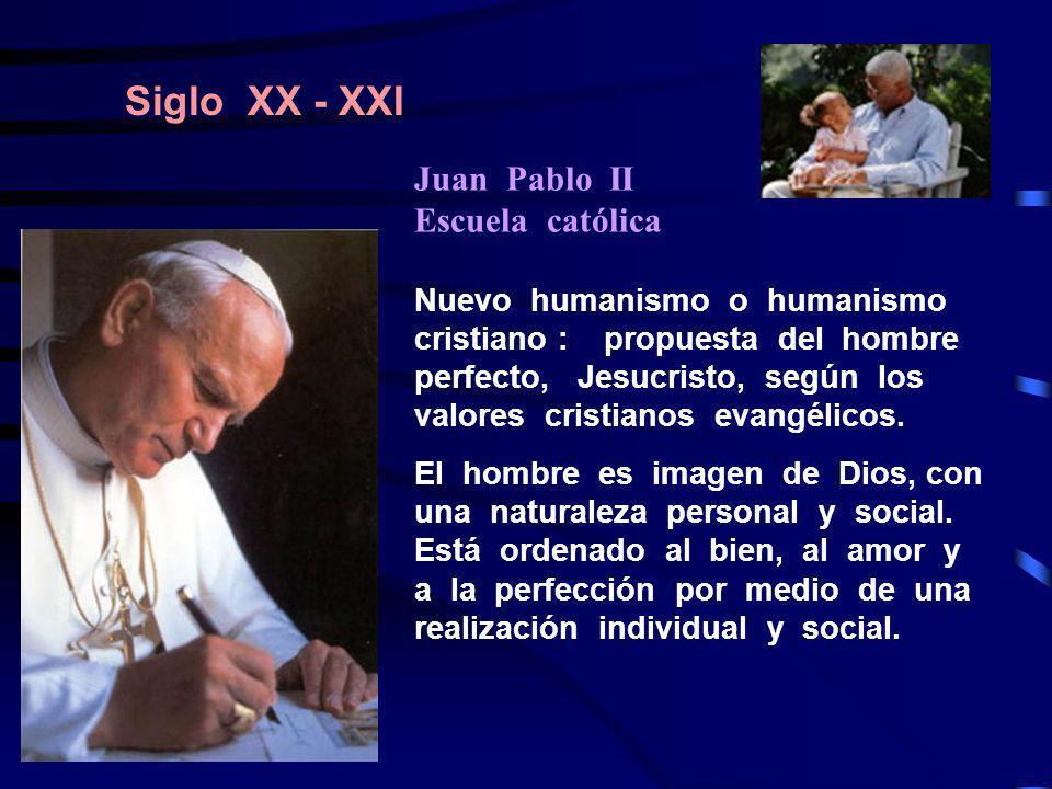 Siglo XX - XXI Juan Pablo II Escuela católica