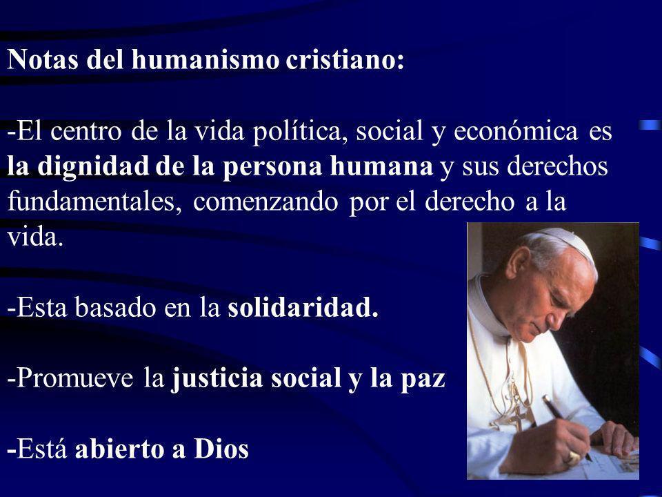 Notas del humanismo cristiano: