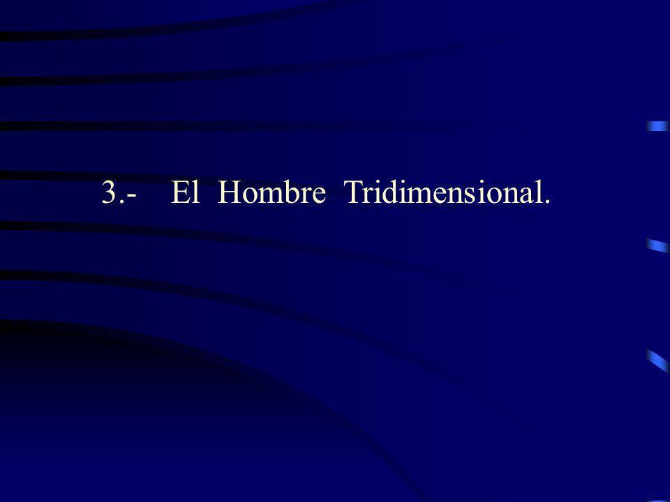 3.- El Hombre Tridimensional.