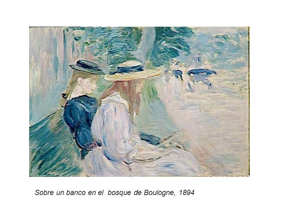 Sobre un banco en el bosque de Boulogne, 1894