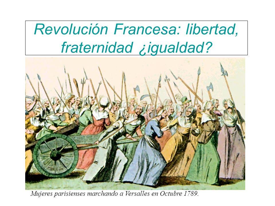 Revolución Francesa: libertad, fraternidad ¿igualdad