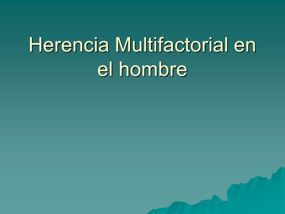 Herencia Multifactorial en el hombre