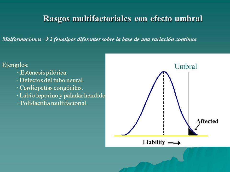 Rasgos multifactoriales con efecto umbral