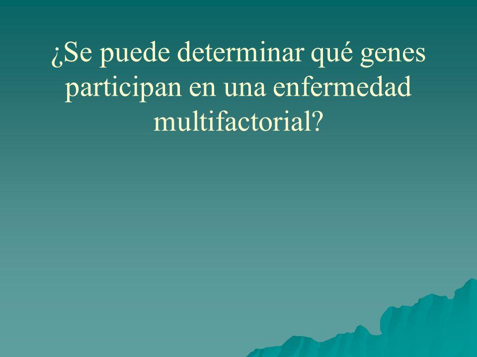 ¿Se puede determinar qué genes participan en una enfermedad multifactorial