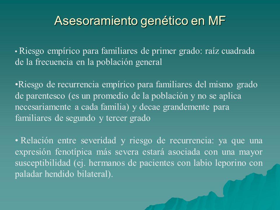 Asesoramiento genético en MF