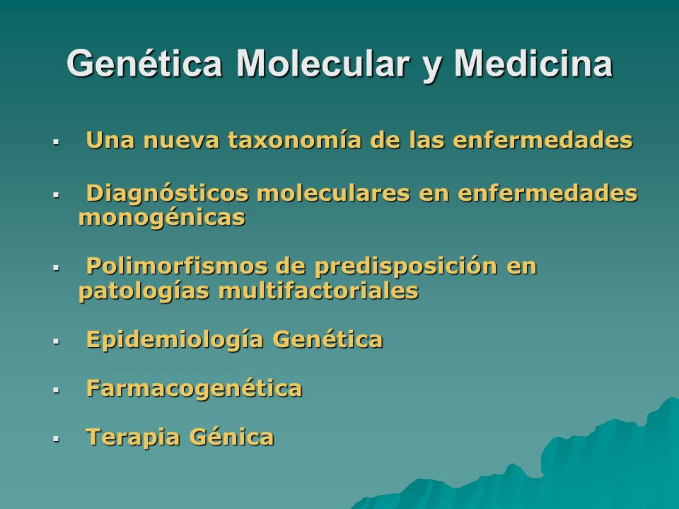 Genética Molecular y Medicina