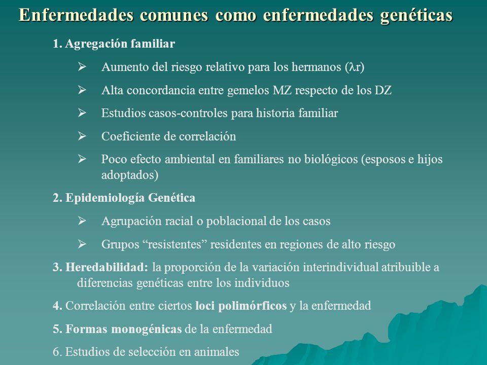 Enfermedades comunes como enfermedades genéticas