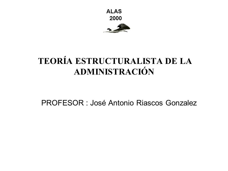 TEORÍA ESTRUCTURALISTA DE LA ADMINISTRACIÓN