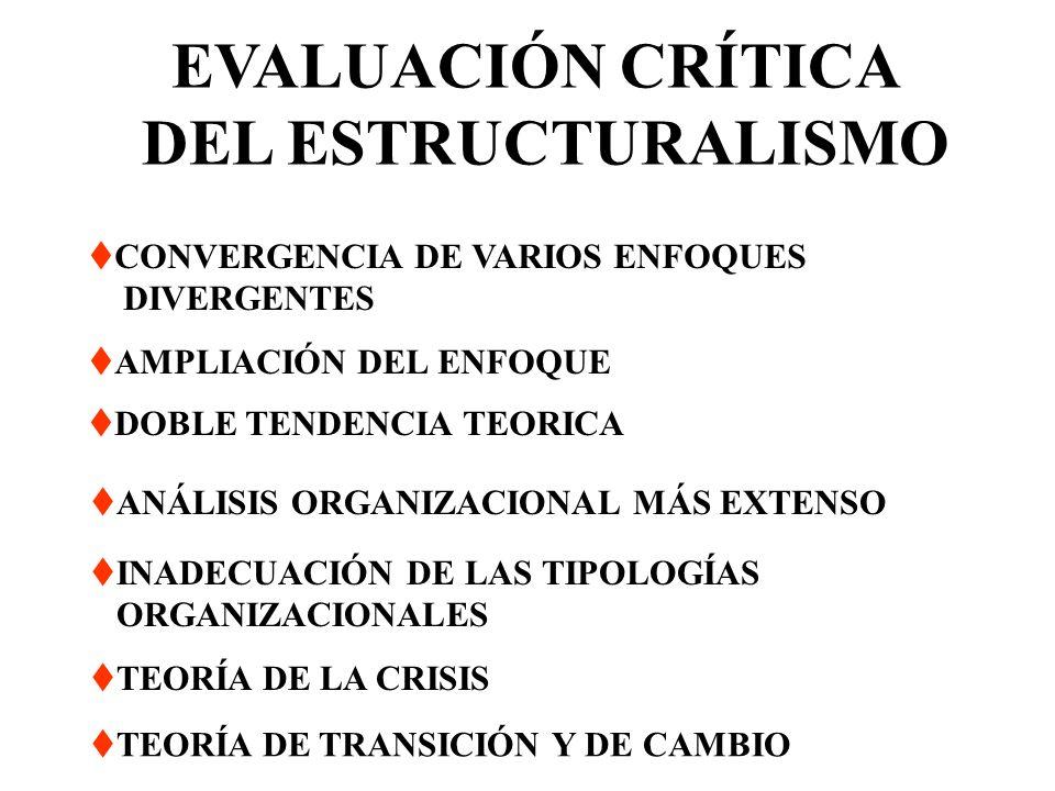 EVALUACIÓN CRÍTICA DEL ESTRUCTURALISMO