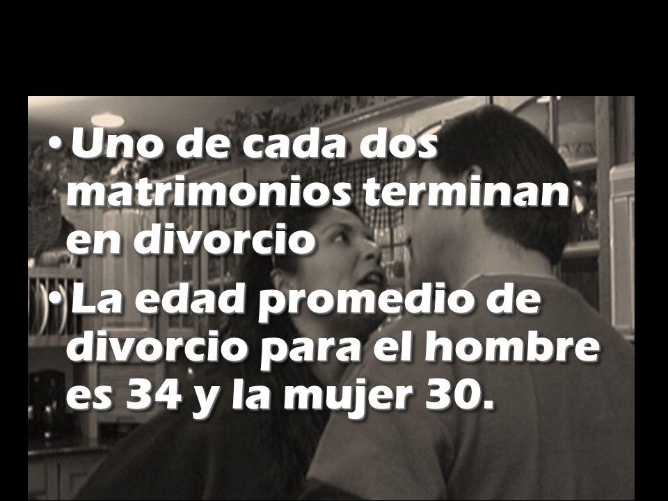 Uno de cada dos matrimonios terminan en divorcio