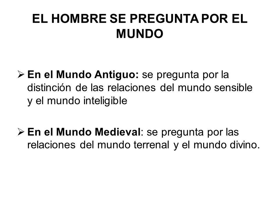 EL HOMBRE SE PREGUNTA POR EL MUNDO