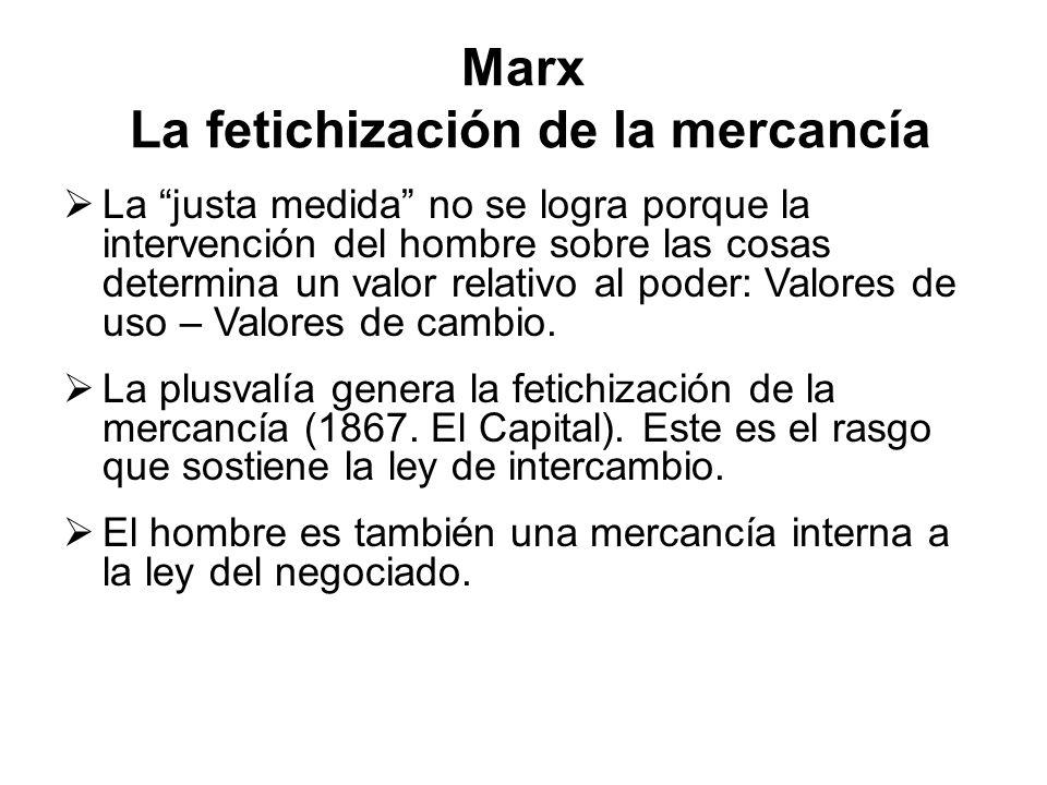Marx La fetichización de la mercancía