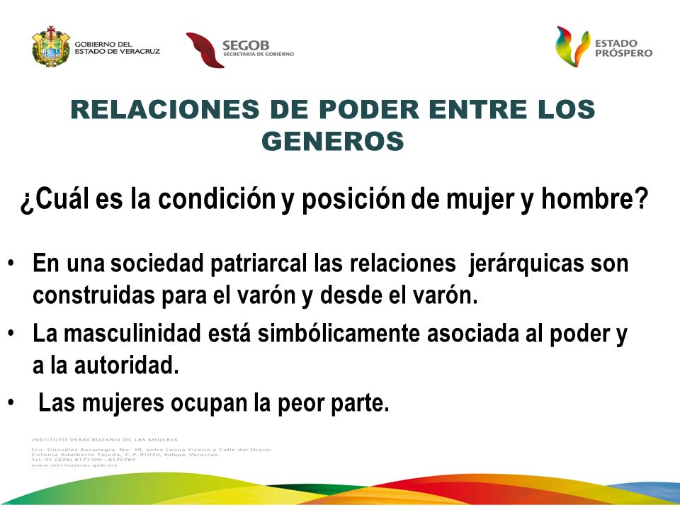 RELACIONES DE PODER ENTRE LOS GENEROS