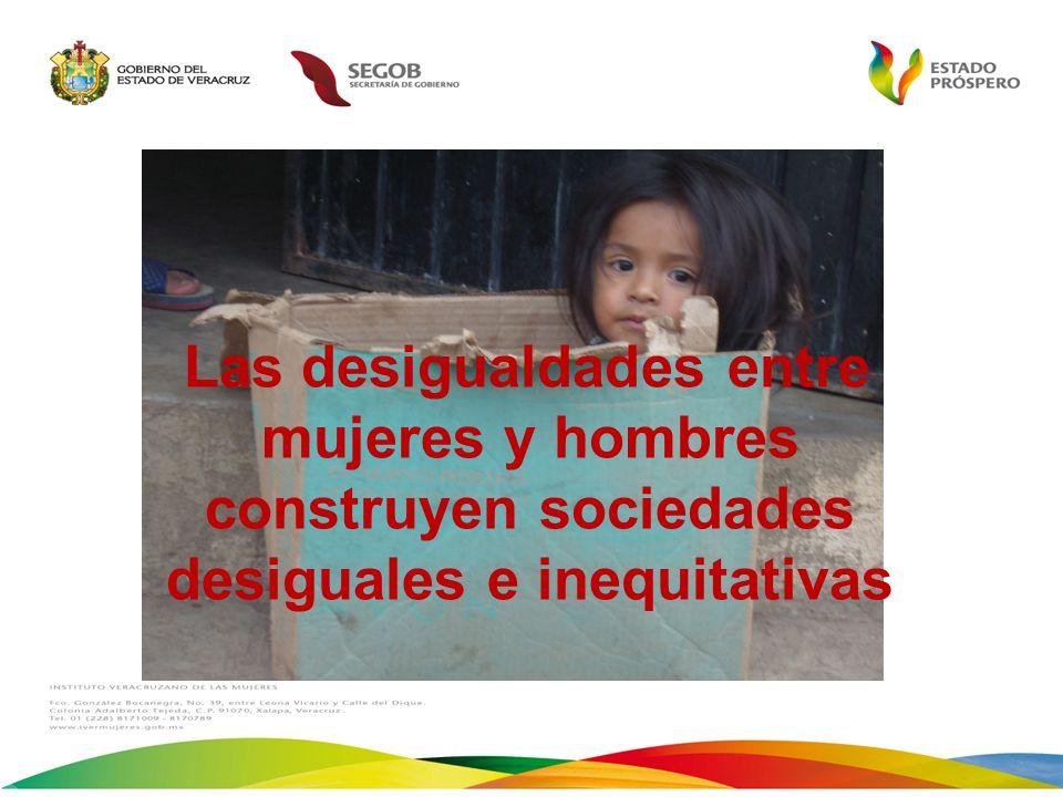 Las desigualdades entre mujeres y hombres construyen sociedades desiguales e inequitativas